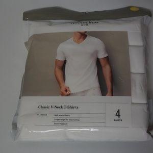 Goodfellow Classic V-neck T-Shirts White Men Small